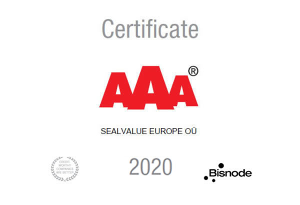AAA® business rating for SealValue